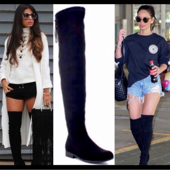 58b3e464446 🌟BEST SELLER🌟Low Heel Black Over the Knee Boots Boutique